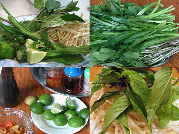 pho garnishes sprouts culantro basil chile lime The Importance of Garnishes for Pho