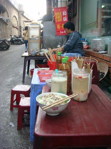 street vendor pho ga hanoi The History and Evolution of Pho: A Hundred Years Journey