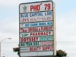 pho 79 sign 150x112 Vietnamese, Little Saigon, Bolsa, and Pho by the Numbers