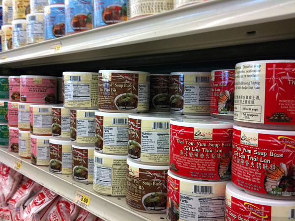 Quoc Viet Foods soup base on supermarket shelves
