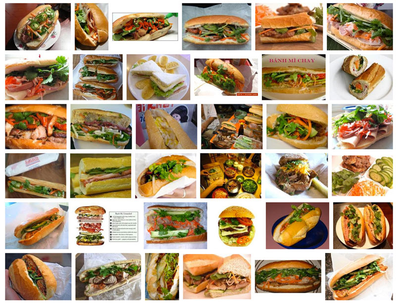 Vietnamese banh mi, Google search results