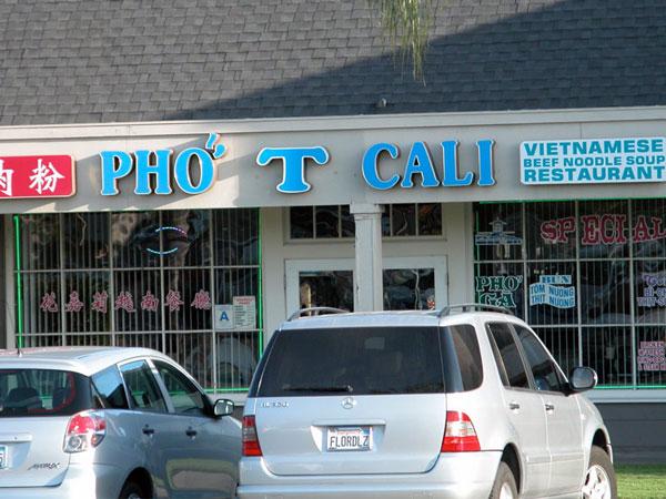 Pho T Cali Pho Cali, Pho HoaCali, Pho Cali & Grill, Pho T Cali, Pho Cow Cali   Whats in a Name?